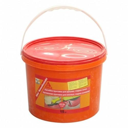 Адгезионная грунтовка для плотных, гладких поверхностей Sika BetonKontakt / 15 кг - изображение 1