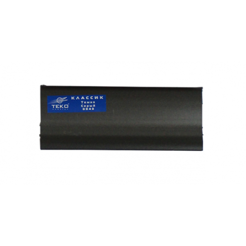 Плинтус напольный Классик темно-серый 2,5м - изображение 1