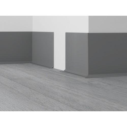 Плинтус Dollken EL 3,5 серый, 4м - изображение 1