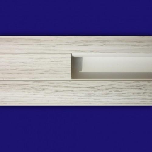 Плинтус напольный Стандарт Дуб белый 2,5м - изображение 1