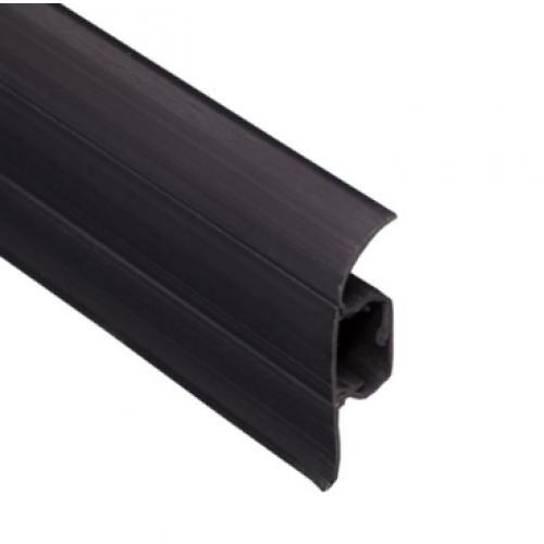 Плинтус ковровый ПВХ TIS черный 18х56х2500 мм  - изображение 1