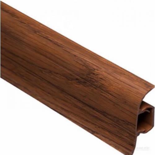 Плинтус ковровый ПВХ TIS коричневый 18х56х2500 мм  - изображение 1