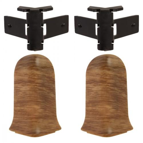 Угол к плинтусу внешний Dolken коричневый TL51- 132 - изображение 1
