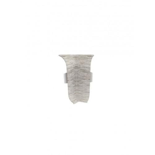 Угол к плинтусу  внутренний Стандарт Дуб белый - изображение 1
