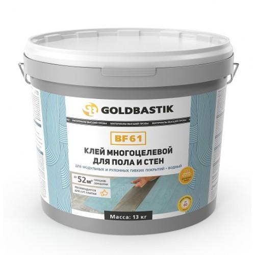 Клей для LVT, модульных и рулонных покрытий для пола и стен «GOLDBASTIK BF 61» 13 кг. - изображение 1