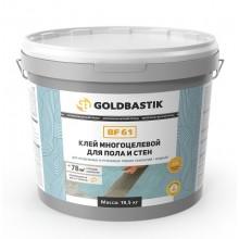 Клей для LVT, модульних та рулонних покриттів для пола та стін «GOLDBASTIK BF 61» 19,5 кг.