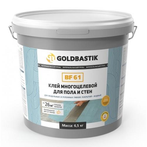 Клей для LVT, модульных и рулонных покрытий для пола и стен «GOLDBASTIK BF 61» 6,5 кг. - изображение 1