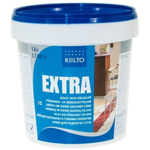 Клей для пола ПВХ и стен Kiilto Extra 1 кг. - изображение 1