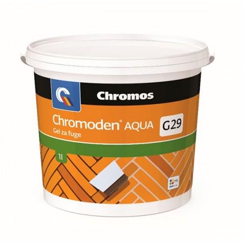 Однокомпонентный, бесцветный, водный гель/шпатлевка паркета CHROMODEN AQUA GEL ZA FUGE, 1 кг - изображение 1