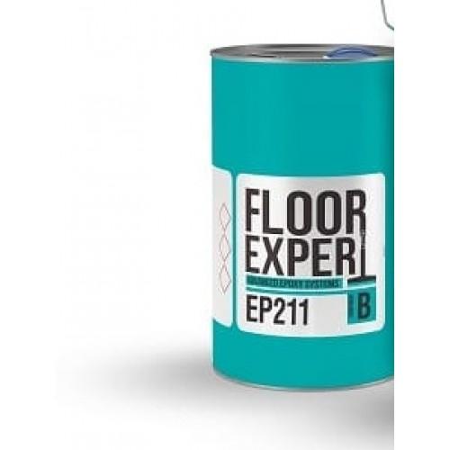 Двухкомпонентный самовыравнивающийся пол FLOOR EXPERT EP 211 RAL 7035 компонент A 20.80 кг - изображение 1
