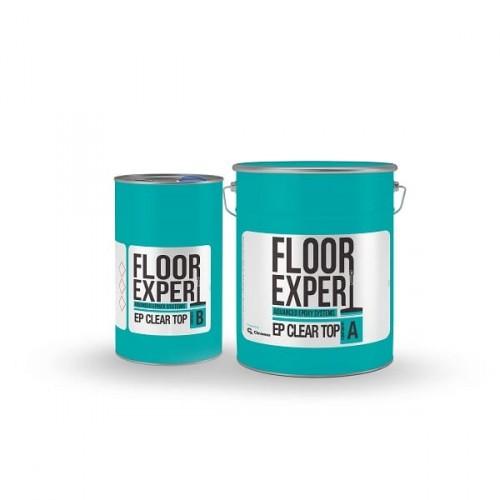 Двухкомпонентная эпоксидная смола FLOOR EXPERT EP CLEAR TOP (компонент A 6.67 кг/компонент B 3.33 кг) - изображение 1