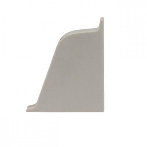 Заглушка к плинтусу Classic левая, серебряно-серая - изображение 1